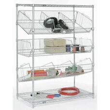 Chrome Wire Bin Pick Rack - 18