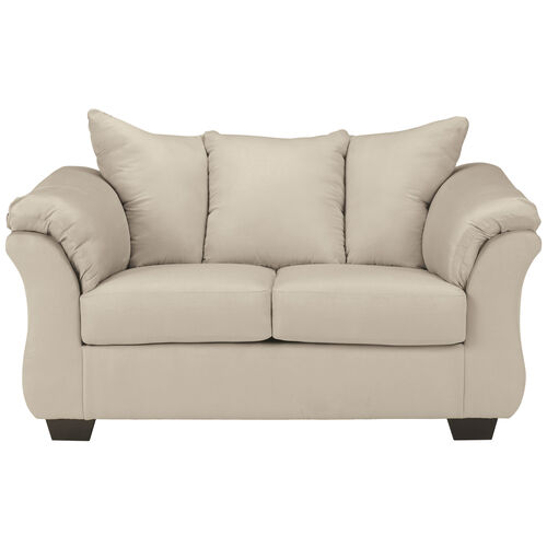 Our Signature Design by Ashley Darcy Loveseat in Microfiber is on sale now.