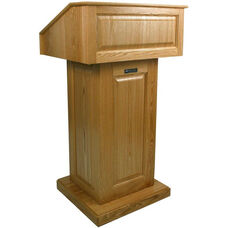 Victoria Non-Sound Lectern - Oak Finish - 26.375