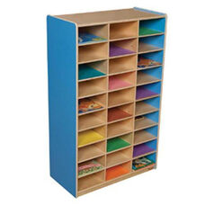 Blueberry Heavy Duty Mailbox Storage and Distribution Center with Thirty Storage Shelves - Fully Assembled - 30