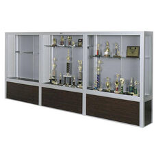 Premiere Series Freestanding 3 Door Display Case with Wood Base - 192