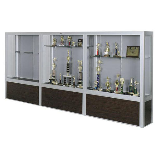 Our Premiere Series Freestanding 3 Door Display Case with Wood Base - 192