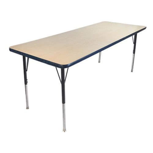 Advantage 30 in. x 72 in. Rectangular Adjustable Activity Table - Maple/Navy