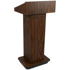 Executive Non-Sound Column Lectern - Walnut Finish - 22