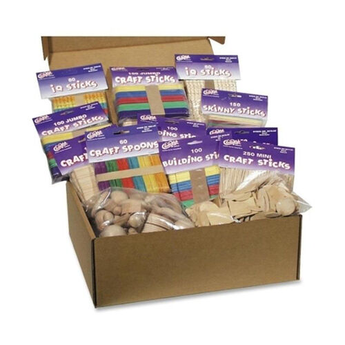 Our Chenille Kraft Company Wood Crafts Classroom Activities Kit - 2100 Pieces is on sale now.