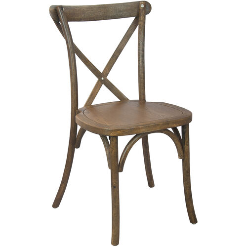 Advantage Hand Scraped Dark Natural X-Back Chair
