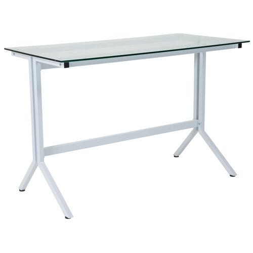 Our Winfield Collection Glass Computer Desk with White Metal Frame is on sale now.
