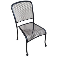 Outdoor Wrought Iron Stackable Side Chair