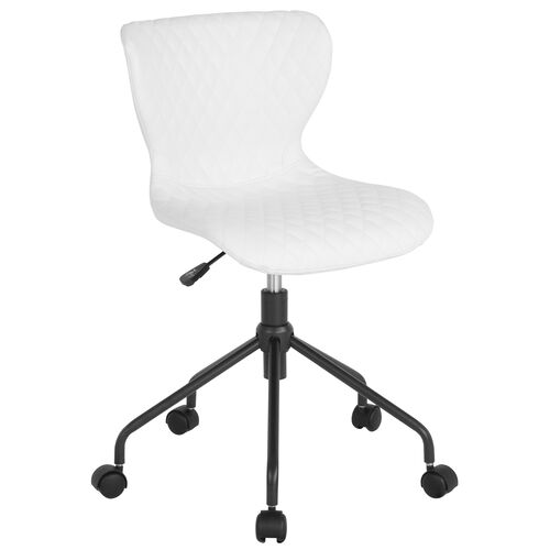Our Somerset Home and Office Upholstered Task Chair in White Vinyl is on sale now.