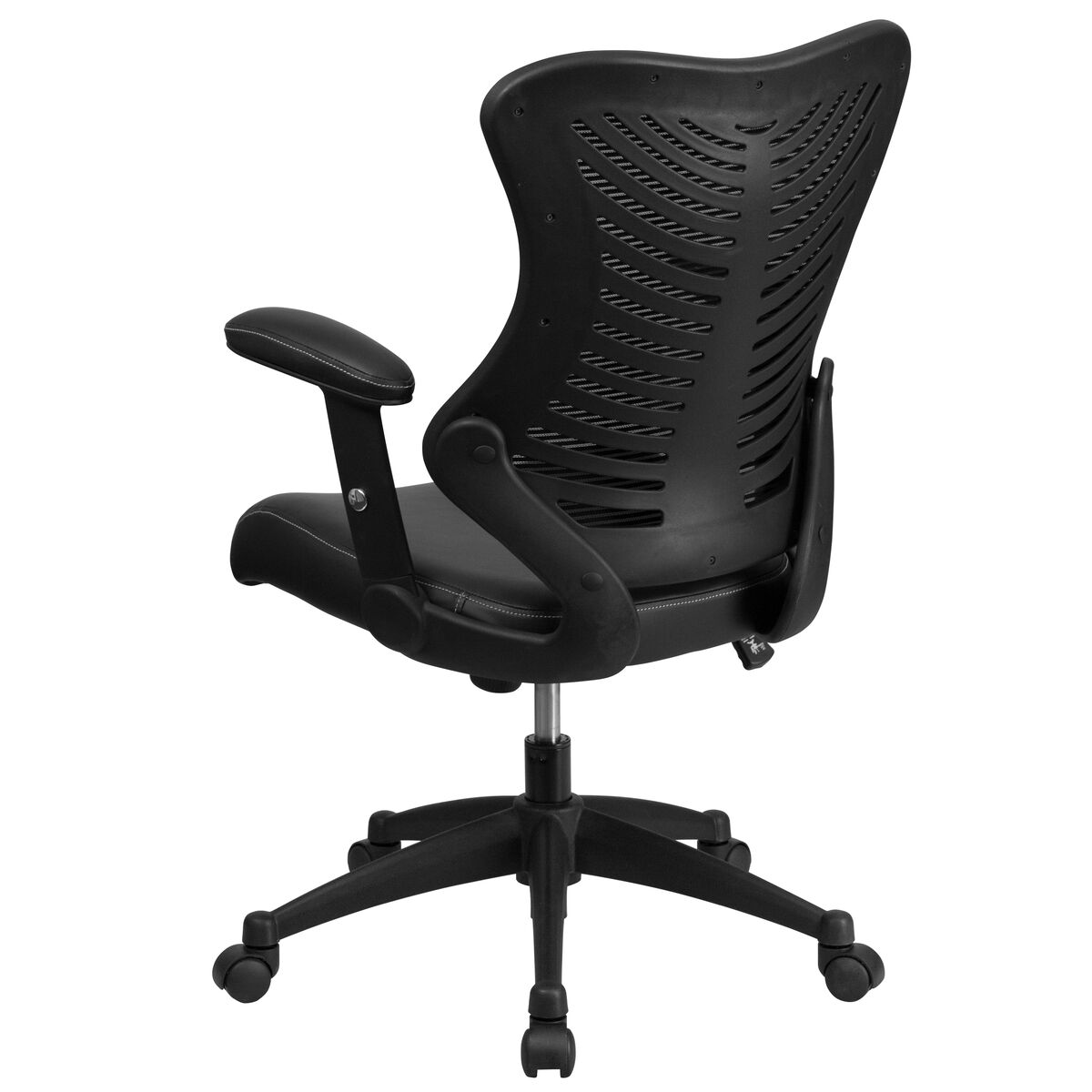 black high back leather chair bl zp 806 bk lea gg. Black Bedroom Furniture Sets. Home Design Ideas