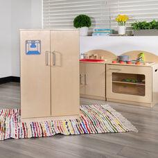 Children's Wooden Kitchen Refrigerator for Commercial or Home Use - Safe, Kid Friendly Design