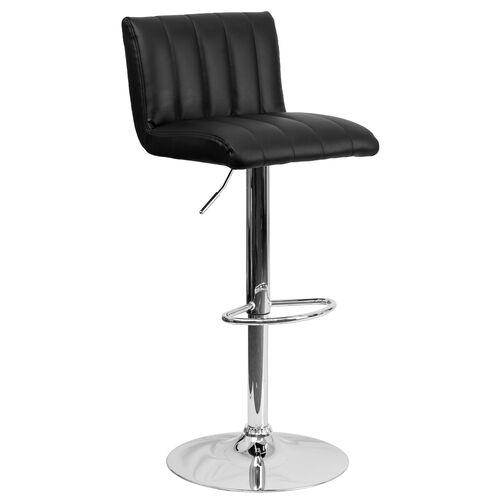 Our Contemporary Vinyl Adjustable Height Barstool with Vertical Stitch Back/Seat and Chrome Base is on sale now.