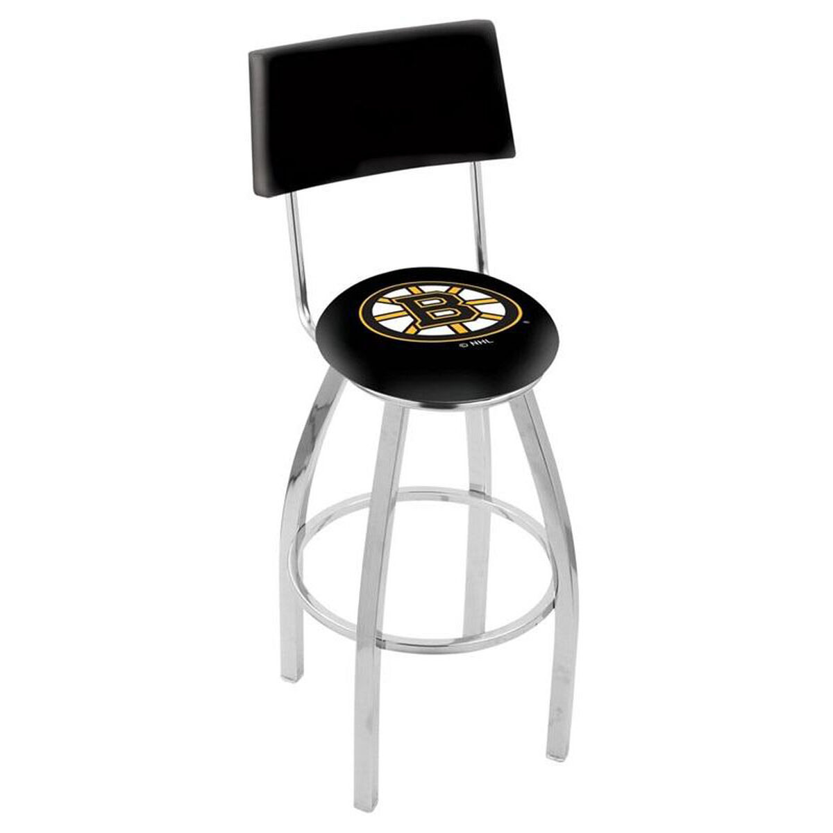 Nhl Chrome Finish Swivel Stool L8c425bosbru Bizchair Com
