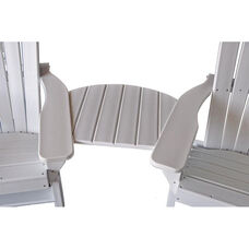 Basic Adirondack Tete-A-Tete Recycled Plastic Connecting Table in White
