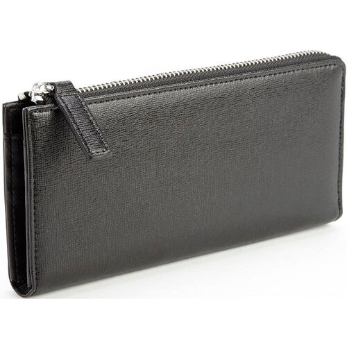 Our RFID Blocking Fan Wallet - Saffiano Genuine Leather - Black is on sale now.