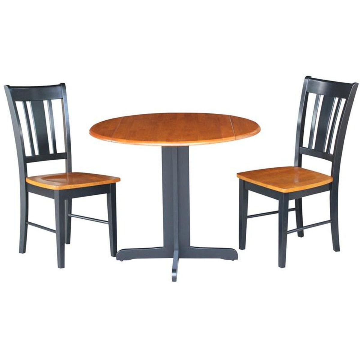 Parawood Three Piece Table Set KRPCP Bizchaircom - 36 diameter dining table