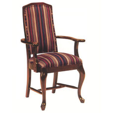 8631 Arm Chair w/ Queen Anne Legs, Upholstered Back & Seat - Grade 1