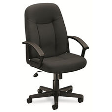 Basyx® VL601 Series Executive High-Back Swivel/Tilt Chair - Charcoal Fabric/Black Frame