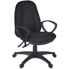 Momentum Height Adjustable Task Chair with Casters - Black Fabric