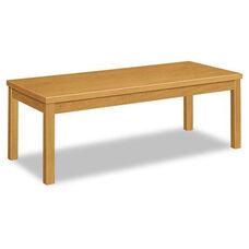 HON® Laminate Occasional Table - Rectangular - 48w x 20d x 16h - Harvest