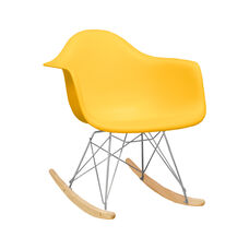 Paris Tower Rocking Chair with Yellow Seat