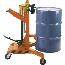 Ergonomic Drum Handler with Hydraulic Jack and Swivel Casters