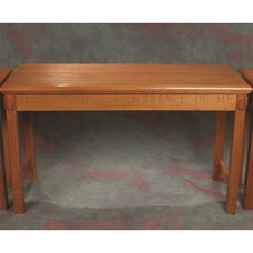 Stained Red Oak Open Communion Table