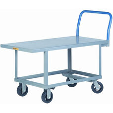 Ergonomic Work Height Platform Truck with Mold-On Rubber Wheels - 24