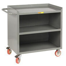Mobile Bench Cabinet with 3 Lipped Shelves - 24