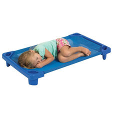 Blue Ready to Assemble Toddler Stackable Streamline Cots - 23