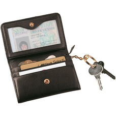 Wallet with Removable Key Ring - Top Grain Nappa Leather - Black