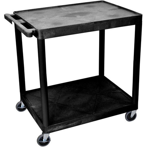 Our 2 Shelf Structural Foam Plastic Utility Cart - Black - 32