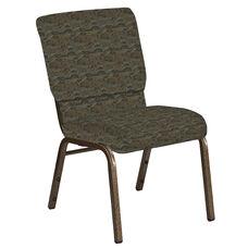 18.5''W Church Chair in Perplex Willow Fabric - Gold Vein Frame