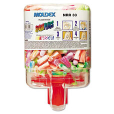 Moldex® SparkPlugs PlugStation Dispenser - Cordless - 33NRR - Asst. Colors - 250 Pairs