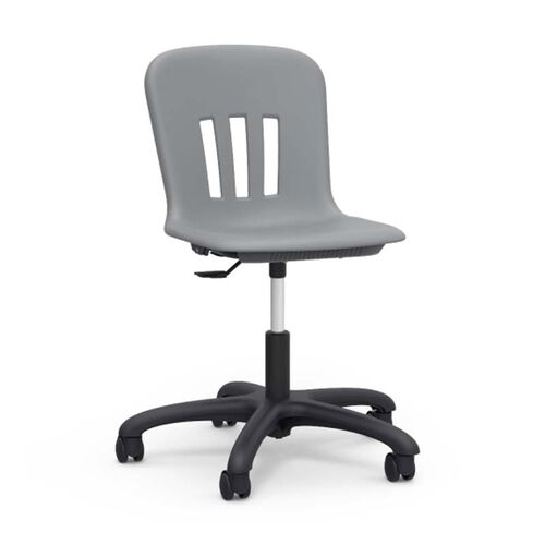 Our Metaphor Series Task Chair with Graphite Polypropylene Seat and Black Base - 24.13
