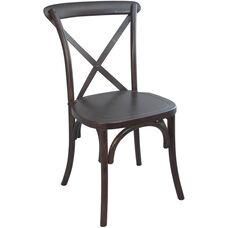 Advantage Walnut X-Back Chair