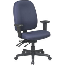 Work Smart Dual Function Ergonomic Chair with Seat Slider and Lumbar Support
