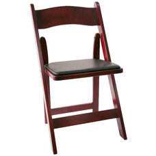 American Classic Wood Folding Chair - Set of 4 - Red Mahogany