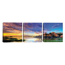 Willow Lake Spring Sunset by Bob Larson Gallery Wrapped Canvas Artwork - 48