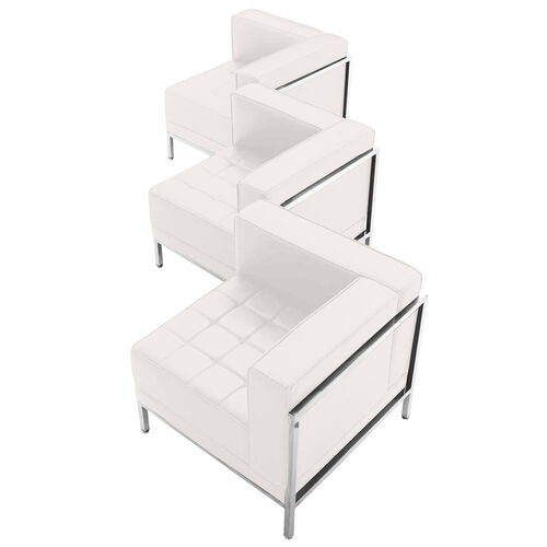 Our HERCULES Imagination Series Melrose White LeatherSoft 3 Piece Corner Chair Set is on sale now.