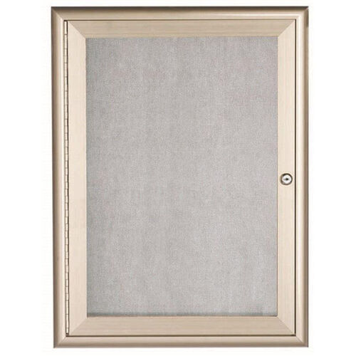 Our 1 Door Enclosed Bulletin Board with Aluminum Waterfall Style Frame - 36