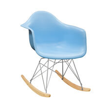 Paris Tower Rocking Chair with Blue Seat