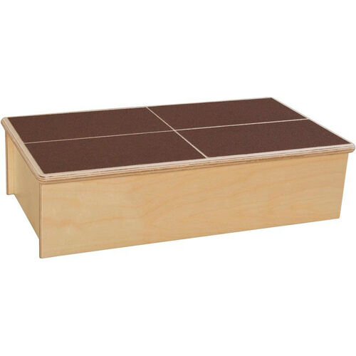 Our Wooden Childs Step Stool with Brown No-Slip Tread - 23