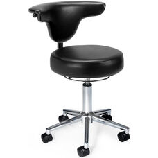 Anatomy Anti-Microbial and Anti-Bacterial Vinyl Chair - Black