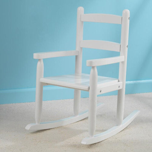 Our Classic Style Childs Indoor Wooden Rocker with Two-Slat Back - White is on sale now.