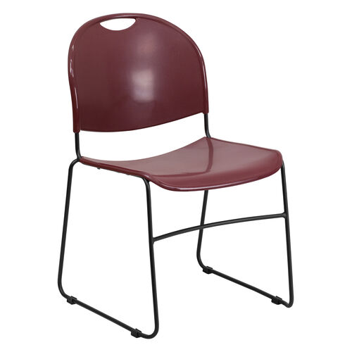 Our HERCULES Series 880 lb. Capacity Burgundy Ultra-Compact Stack Chair with Black Powder Coated Frame is on sale now.