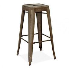 Dreux Stackable Rustic Matte Steel Barstool - Set of 4