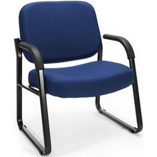 Big & Tall Guest and Reception Fabric Chair with Arms - Navy