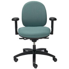 Seatwise Mid-Back Task Chair with Contoured Seat and Back