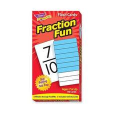 Trend Enterprises Fraction Fun Flash Cards - 96/Box